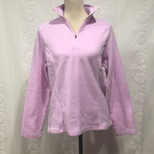 Lands' End Lilac 1/4 Zip Fleece Top S 6-8